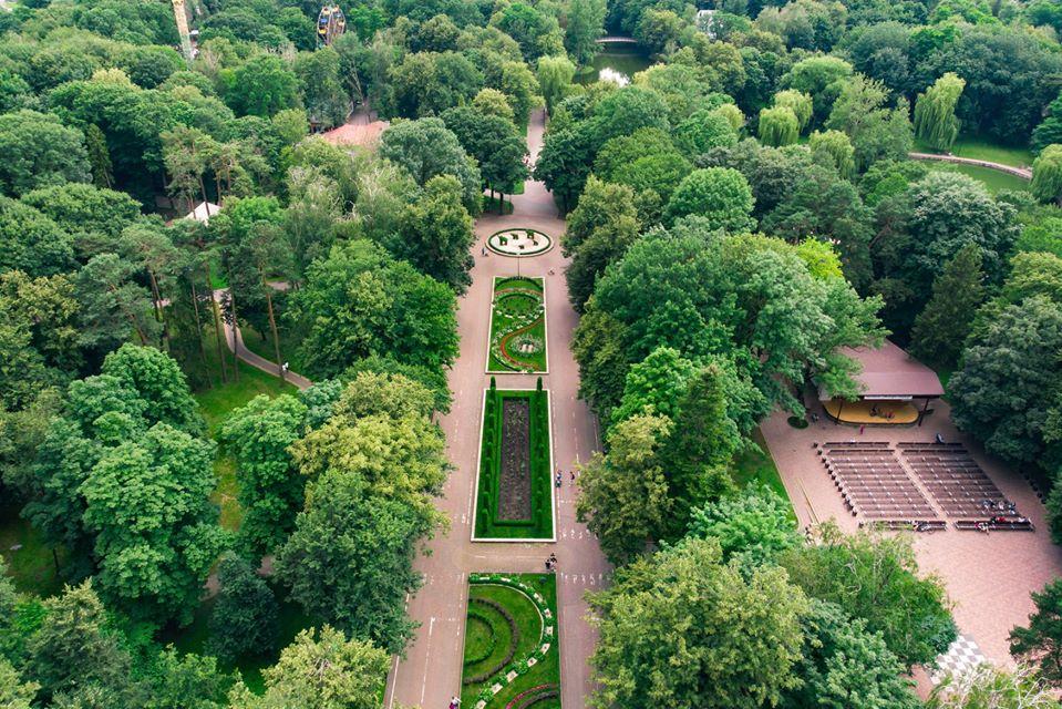 Франківська оаза: міський парк з висоти птахів 2