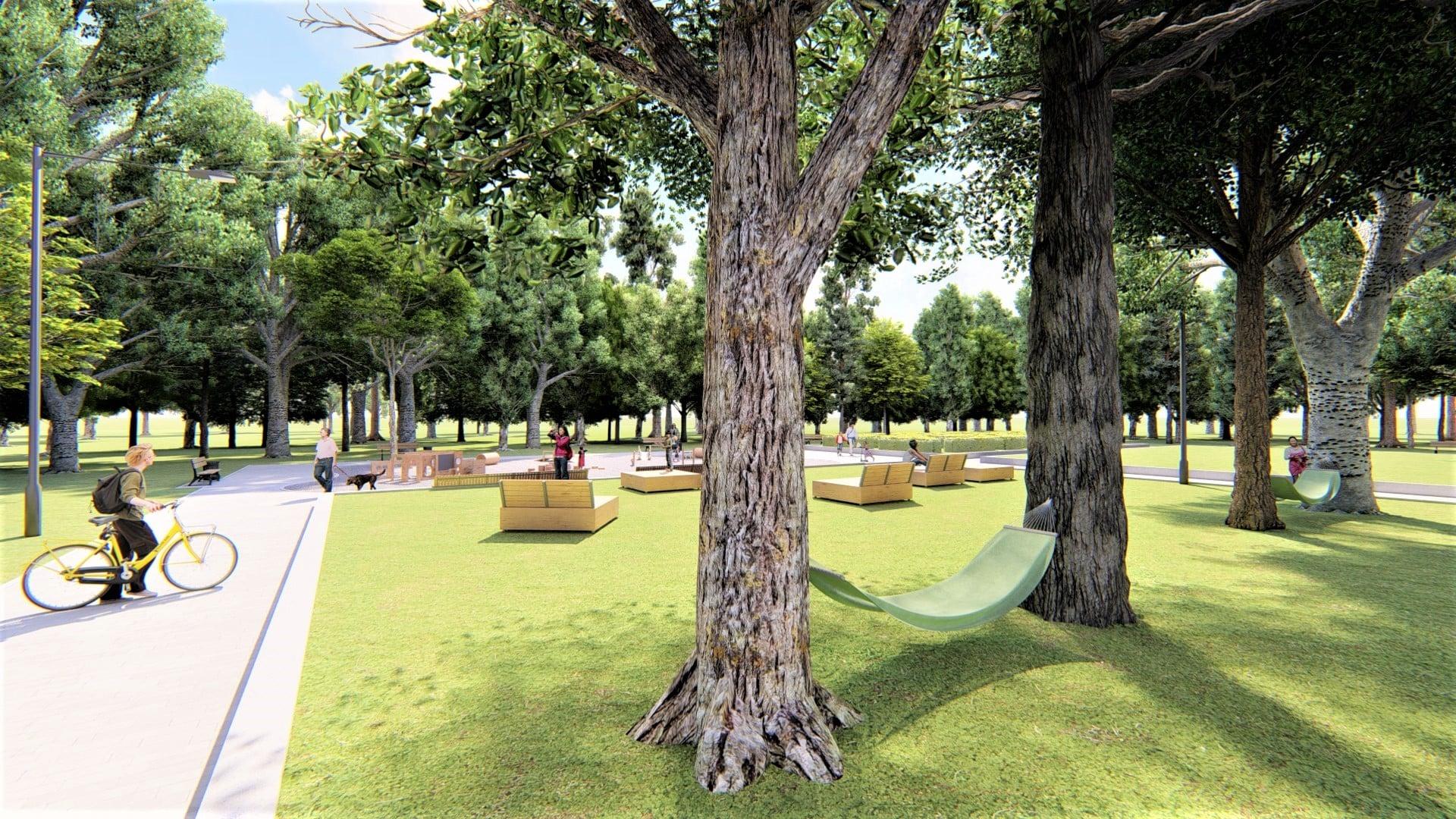 У парку Франківська хочуть влаштувати дитячий простір для найменших 18