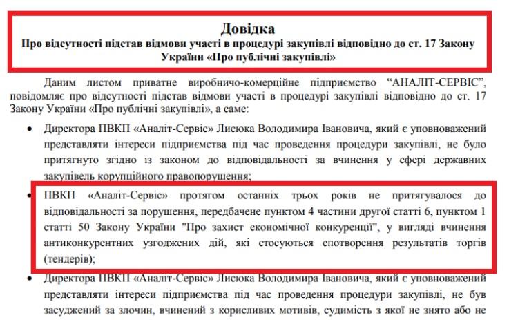 Франківська фірма в обхід заборони АМКУ перемогла у тендерах сім разів 1
