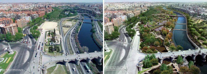 Мадрид реконстракція набережної