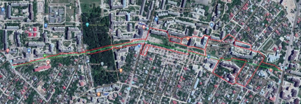 Проект реконструкції вулиці Молодіжної