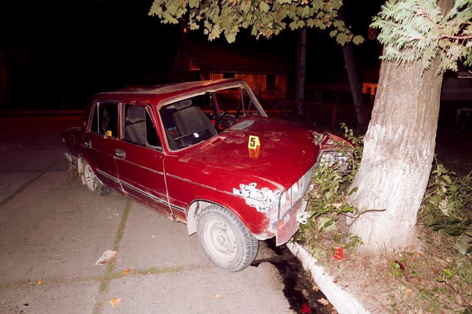 Двох чоловіків на вкраденій машині зупинило дерево у Надвірній 1