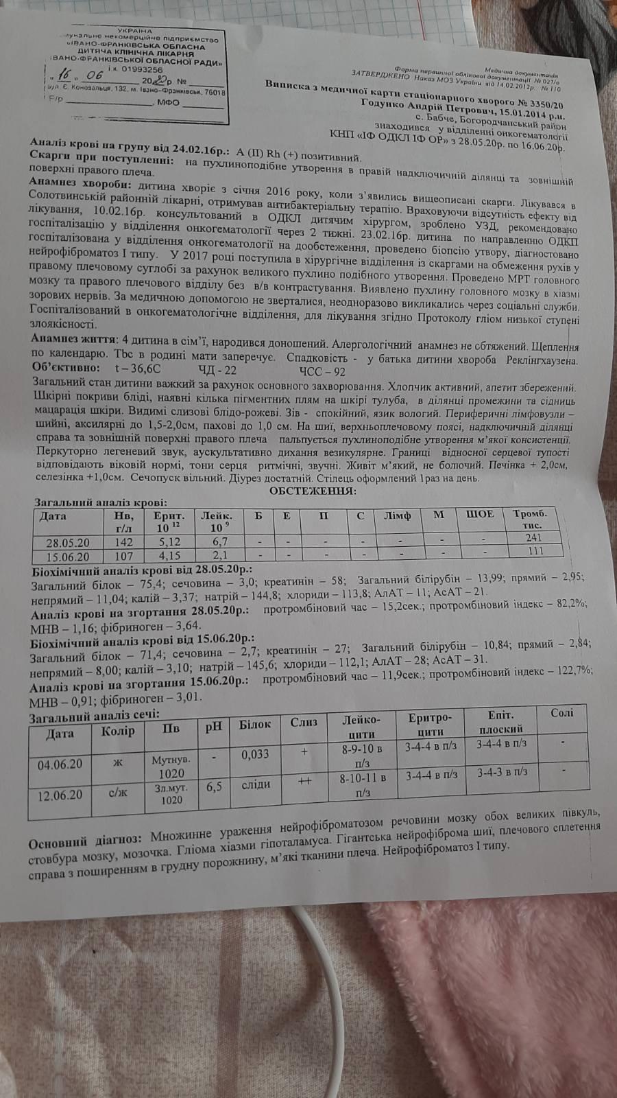 Андрійко Годунко продовжує боротися з важкою хворобою – потрібна підтримка 6