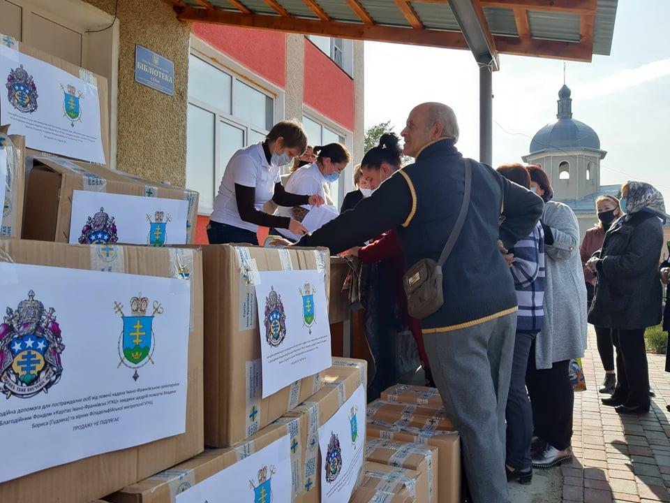 Карітас передав 267 продуктових наборів мешканцям Спаської ОТГ, які втратили врожай через повінь 3