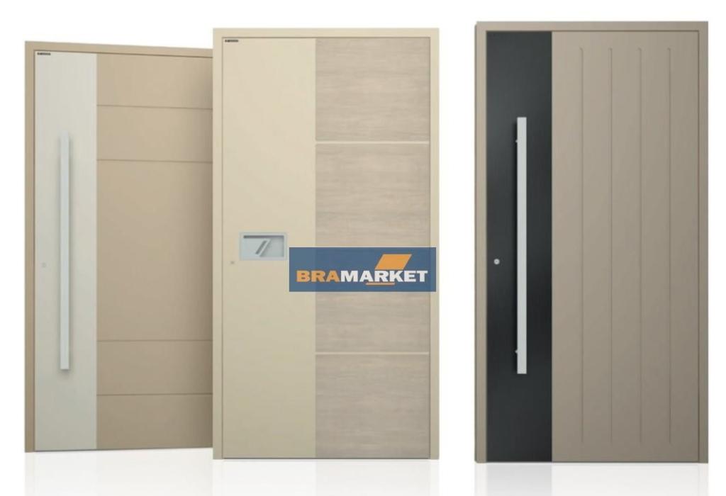 вуличні теплі двері з алюмінію - замовити виробництво наружних систем