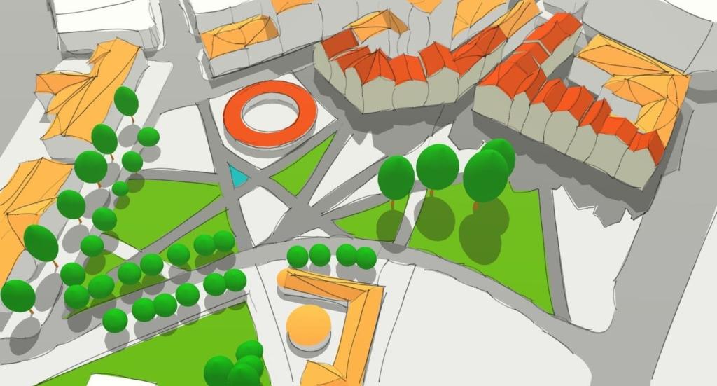 проєкт громадського простору на Тринітарській площі в Івано-Франківську - автор Віталій Пасенюк