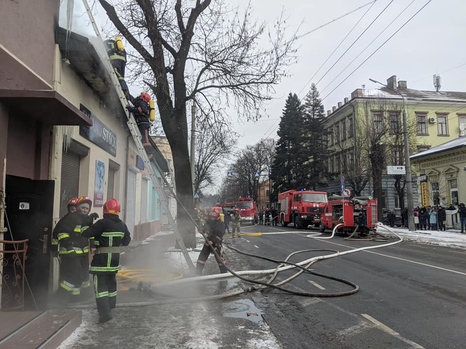 На Лепкого велика пожежа, рух вулицею перекрито. ВІДЕО 1