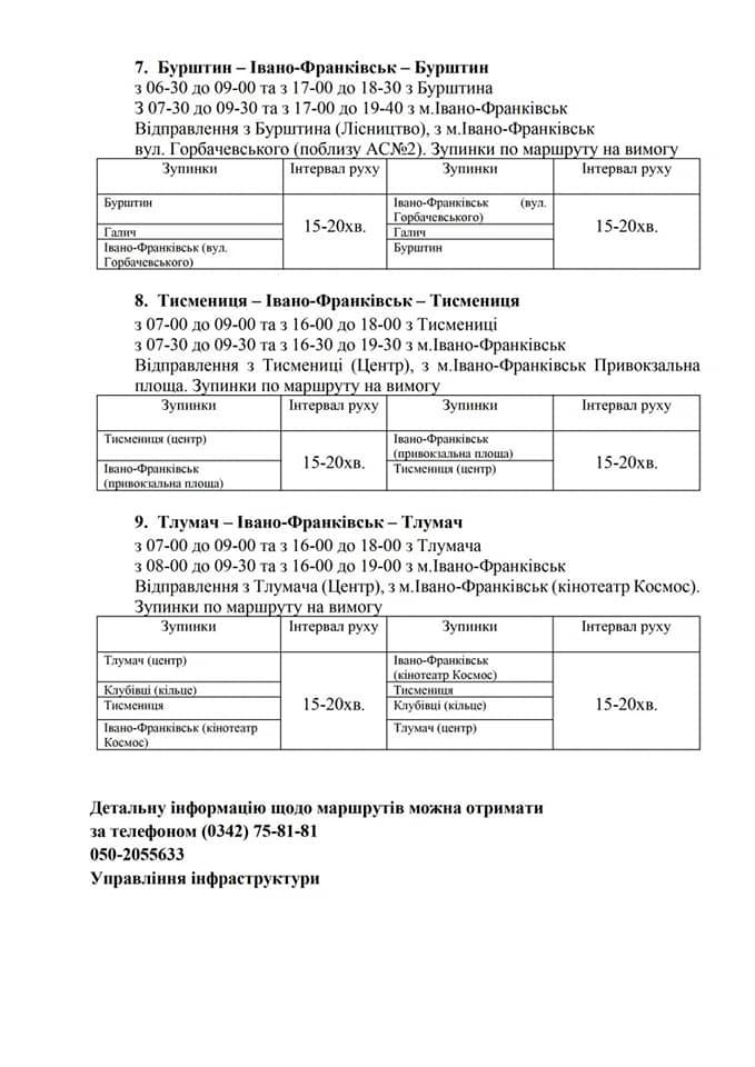 З Франківська у 9 районів: оприлюднили графік спецперевезень для медиків 3