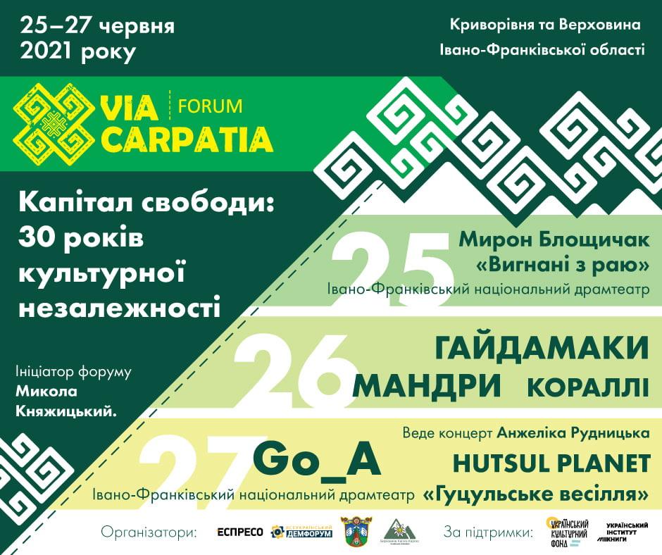 Via Carpatia програма концертів