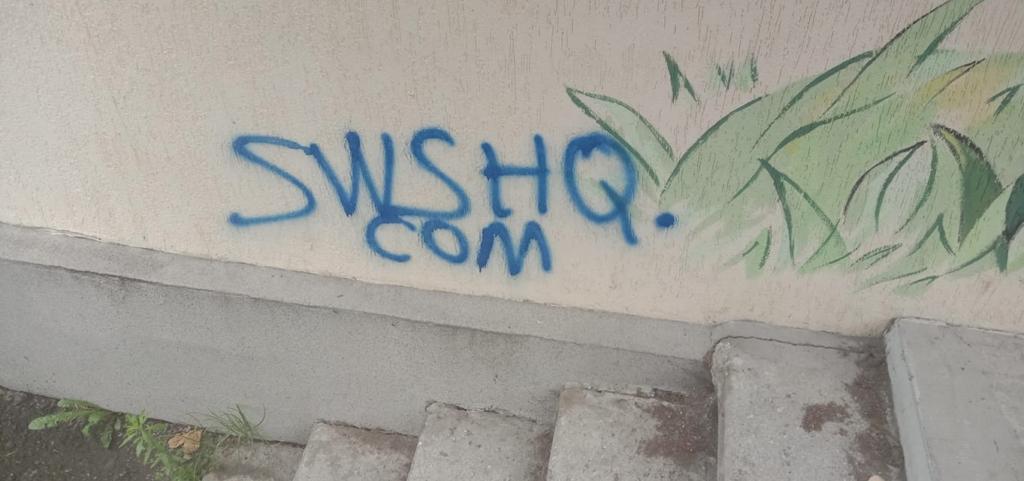 У мережі засвітили молодиків, які залишали рекламу наркотиків на гаражах і будинках Франківська 2