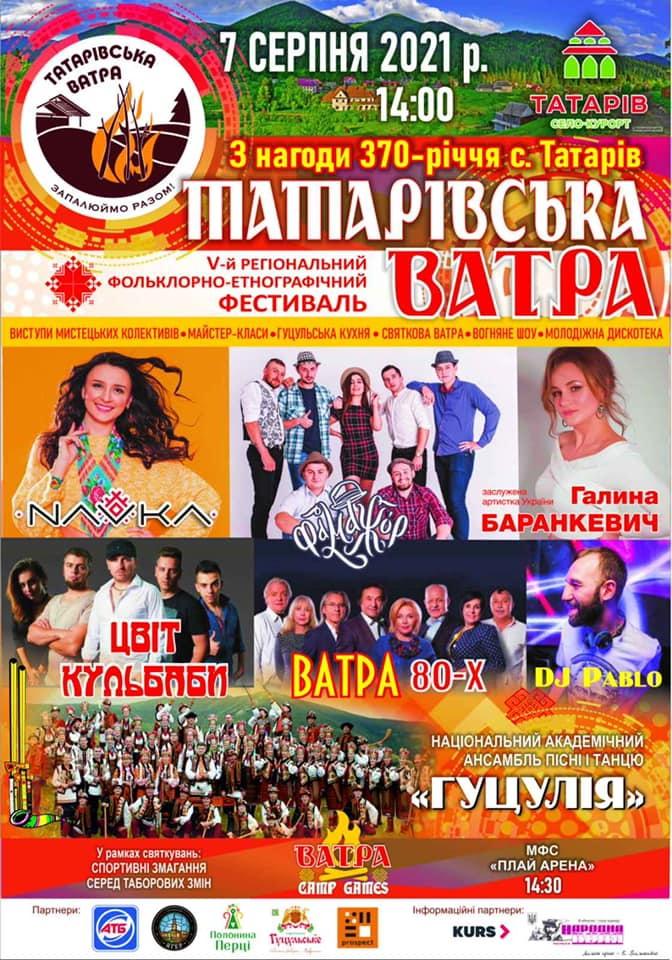 Татарівська ватра - програма фестивалю