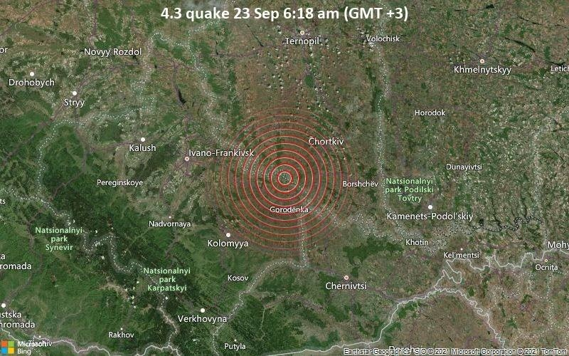 На Прикарпатті вдосвіта відчули землетрус - епіцентр на Тернопільщині 1
